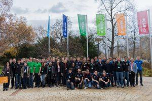 Gruppenbild bei BASF mit allen Teilnehmern